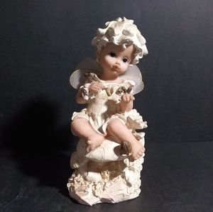 Other - Fairy Sitting On A Mushroom Garden Figurine